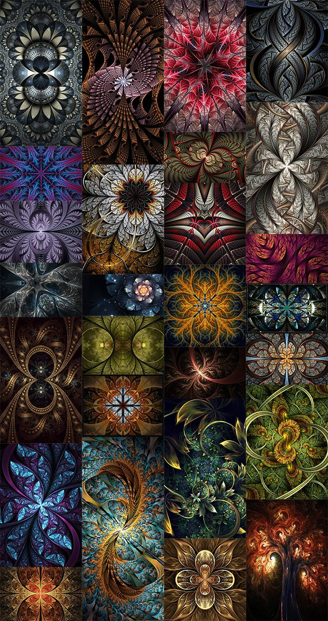 Fractal art is a fascinating genre of digital art that is made using algorithms and scripts. Freeware programs such as Apophysis allow artists to create a series of still images that form extremely detailed patterns with mind-blowing intricacies. In today's inspiration showcase I present 30 captivating pieces of fractal art from a range of artists. …