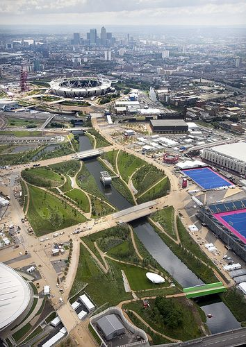 Aerial photo of the Olympic Park - London