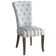 I am in love with this dining room chair and the decor that goes with it!!!!!  Love the colors, the pattern everything!!!
