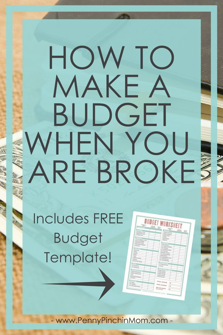 Budget Tip:  Learn how how to create a budget when you are broke!  How to create a budget | Budget when you are broke | budgeting | Budget printable | Budget Tips