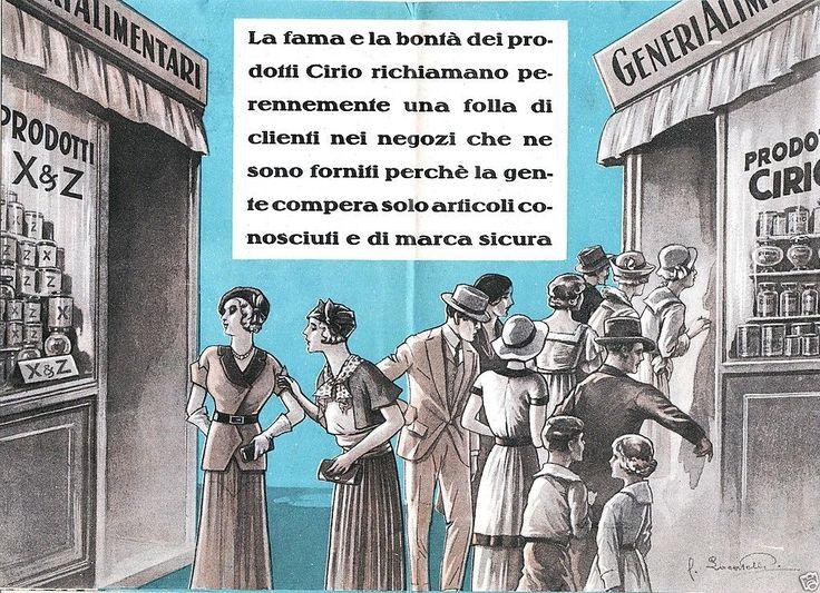 CIRIO CONSERVE ALIMENTARI S.GIOVANNI TEDUCCO NAPOLI PROPAGANDA CIRIOECO 1934