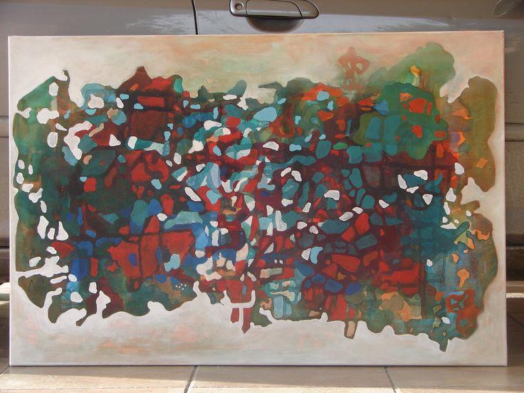 ROMPECABEZAS (acrilico 1.20 x 0.80) MARIA VICTORIA NAVA ARTE ABSTRACTO