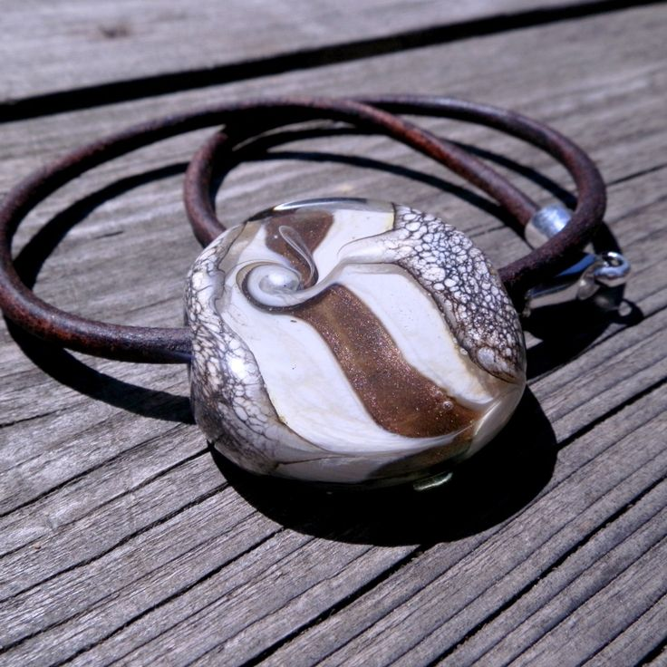 huge bead on leather...for sales
