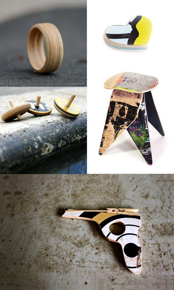 I love eco blog, upcycling, skateboard