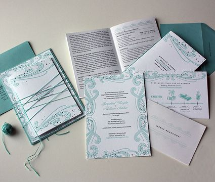 Invitación de Matrimonio Azul Turquesa -- Fotografía: Paisley Quill