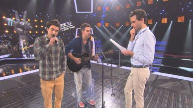 Mika rehearsing....the Voice France 2014