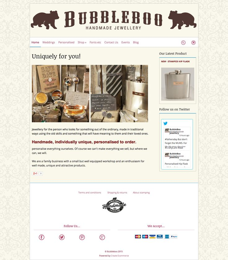 Bubble Boo website using the Boutique template! Great #responsive website! http://www.bubbleboojewellery.co.uk/