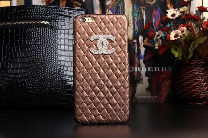 Chanel iphone 6 Case Design Designer Leather Cover Coffee
