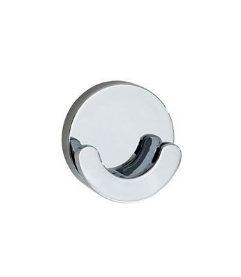 Loft - Double Towel Hook in Polished Chrome. Concealed fastening.
