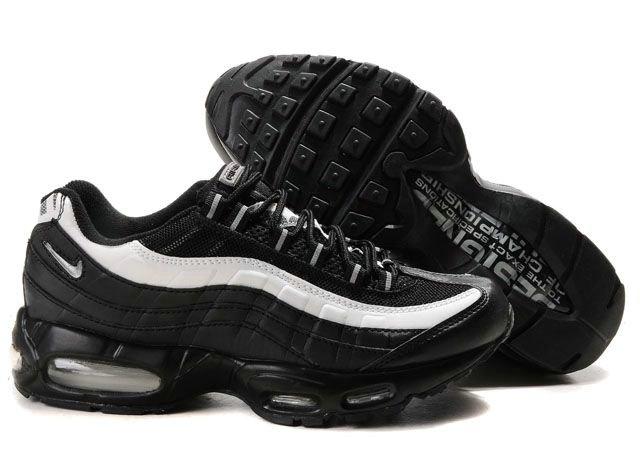Cheap Original Nike Air Max 95 Mens Premium Trainers Black And White Logo  Sneaker Sports Direct Store