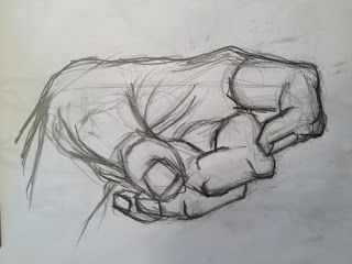 Drawing From Life - 2012 - My Hand - Drunken Fighting Pose