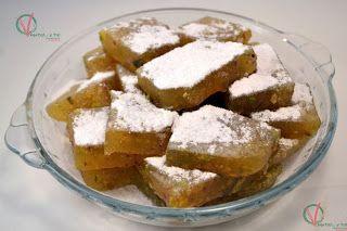 Delicias turcas de mandarina y pistacho.