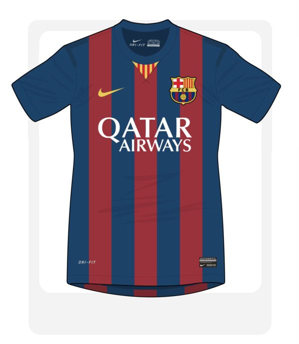 barcelona football jersey 2014