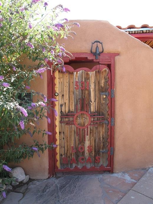 Red Gate with Zia Sun symbol, Santa Fe