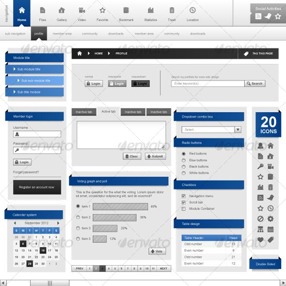 Web Design Template Element Frame Vector $4.00