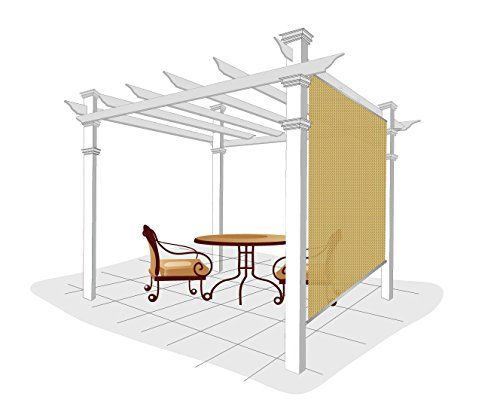 Easy2Hang Exterior Shade for Pergola, Patio, Balcony, Deck,porch, Substitute of Roller Shade, 4 feet by 6 feet, . |  http://landscapeandlighting.net