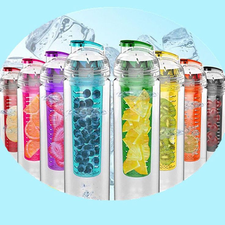 This fruit infuser water bottle with fruit basket holder allows you to add fruit flavor to your water. The bottle is 100% BPA Free, scratch resistant and made from high quality materials. The 800ml is