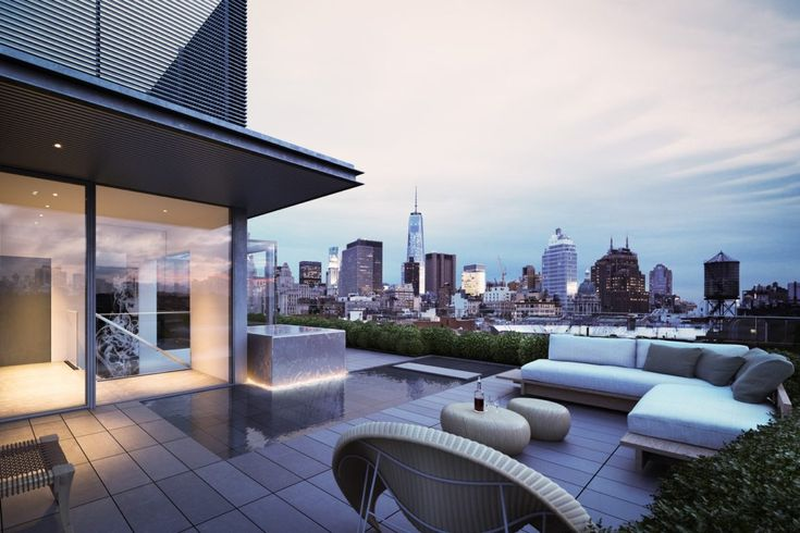 Terrace with wonderful views of the city New York