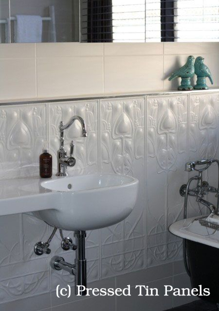 PressedTinPanels_Art-Nouveau900x1800_Dado_Bathroom_HeritageCeilings