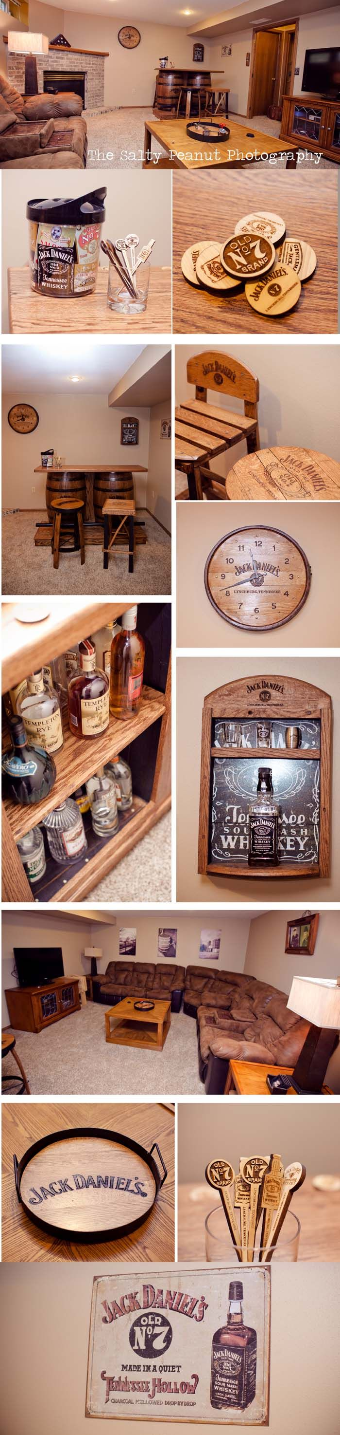 Jack Daniels Man Cave / Basement Bar... finally complete! This is too awesome!!!