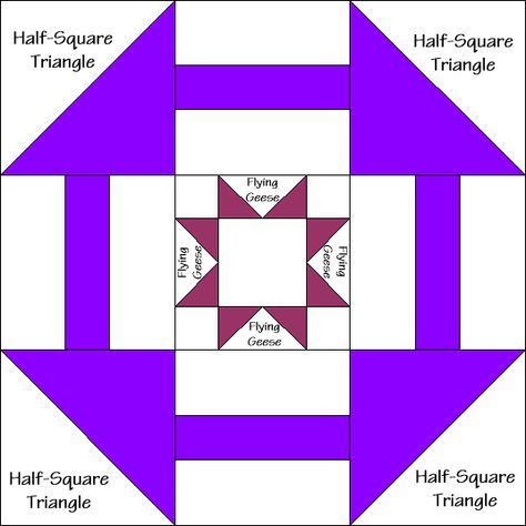 Star in the Window Quilt Block Diagram Free Pattern at QuiltTherapy
