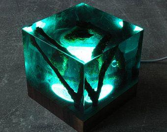 Galaxia decoración, resina y madera para la decoración, ambiente noche, decoración de mesa de resina, resina noche luz, uno de una buena decoración, luz noche única