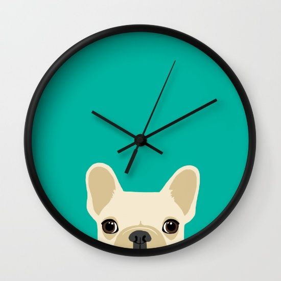 Buy French Bulldog Wall Clock by Anne Was Here. Worldwide shipping available at Society6.com. Just one of millions of high quality products available.