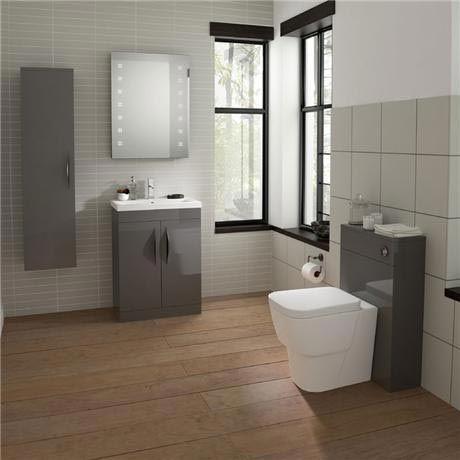 hudson reed memoir 800mm 2 drawer floor mounted basin u0026 cabinet gloss grey 2