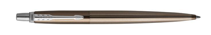 Parker New Jotter Premium Carlisle Brown Pinstripe Chrome Trim