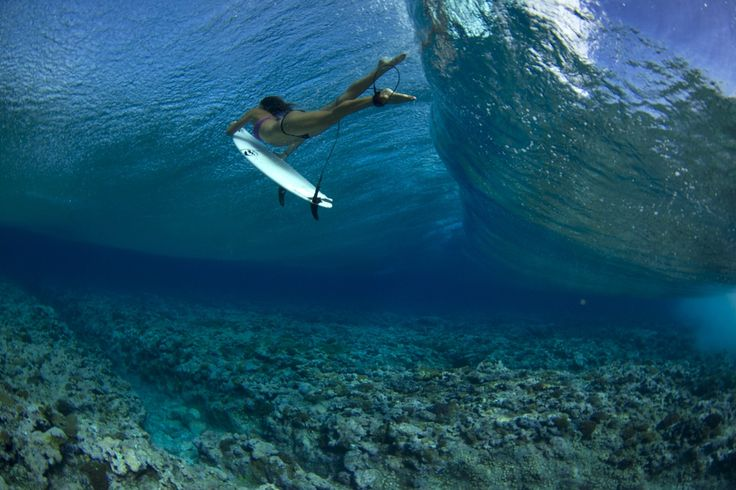 Kim Diggs surfing in The Marshall Islands.  Photo: Kanoa Zimmerman
