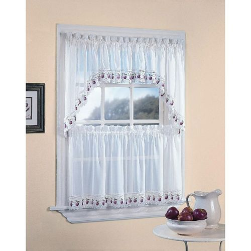 52 Best Kitchen Curtains Images On Pinterest  Kitchen Windows Interesting White Kitchen Curtains Review