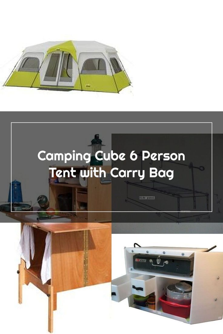 E-Z UP Camping Cube 6 Person Tent with Carry Bag & Reviews ...