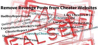 Cheater Website List - Remove Post from Any Cheater Website