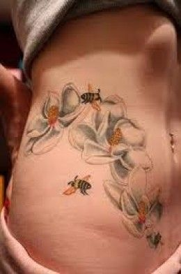 Bee Tattoos And Meanings-Bee Tattoo Designs And Ideas-Bee Tattoo Pictures