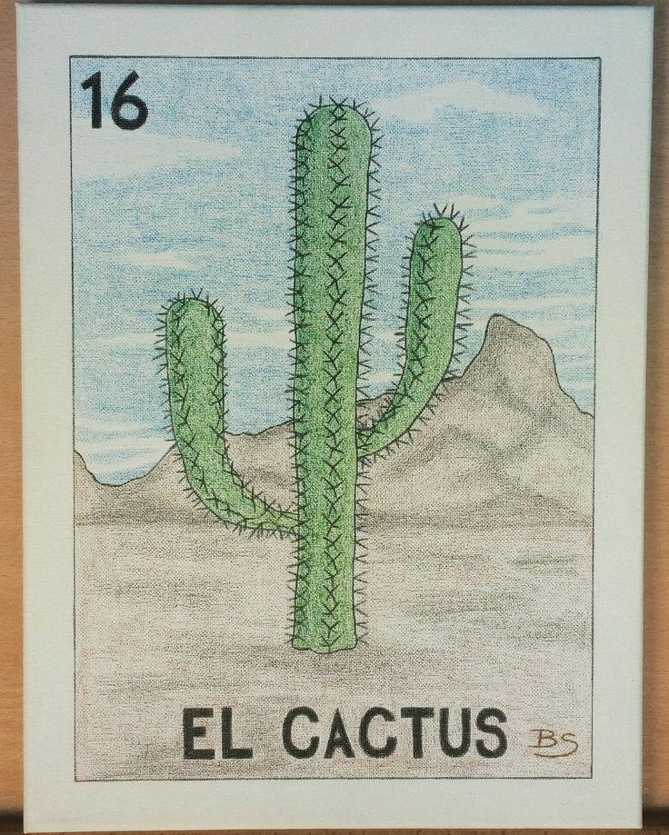 #ElCactus #gift for :-)  ✏️ #Bee #art #artist #creative #custom #draw #pencil #crayons #canvas #handmade #diy #cactus #Mexico #Cabo #BCS #LosCabos