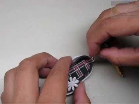 COMO HACER ZAPATITO EN FOAMI ESTAMPADO (HOW TO MAKE SMALL FOAM SHOE) - YouTube