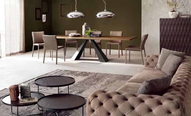 Nowoczesny stół do jadalni Eliot Wood Cattelan Italia