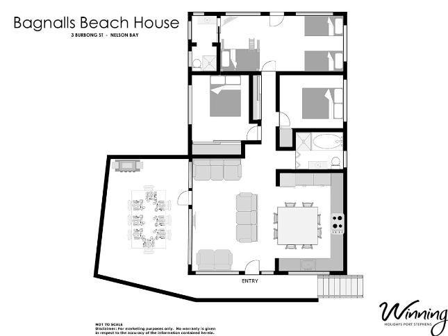 Nelson Bay Beach House Sleeps 8 persons