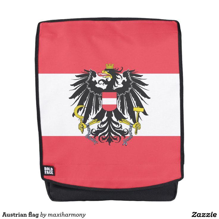 Austrian flag backpack