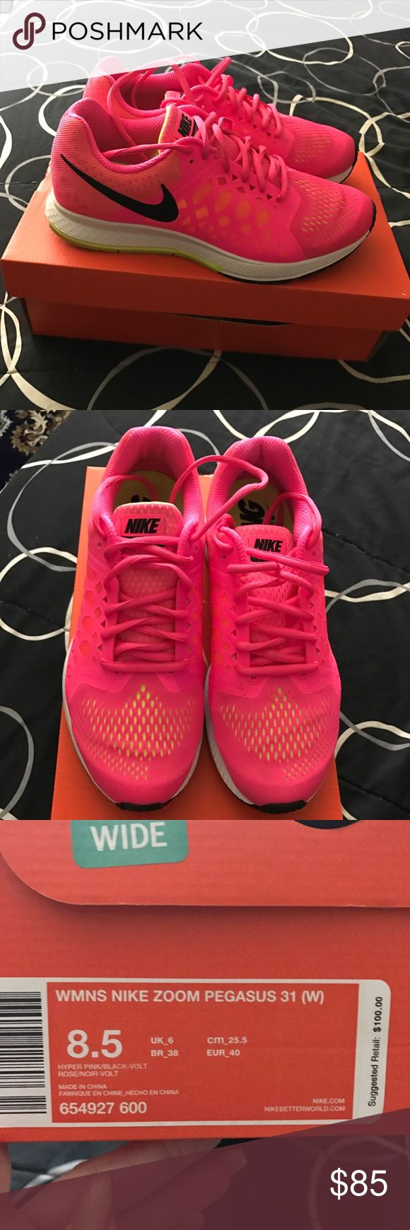 Pink Nike Shoes Worn a few times and very comfortable. Wide Width! Nike Shoes Athletic Shoes