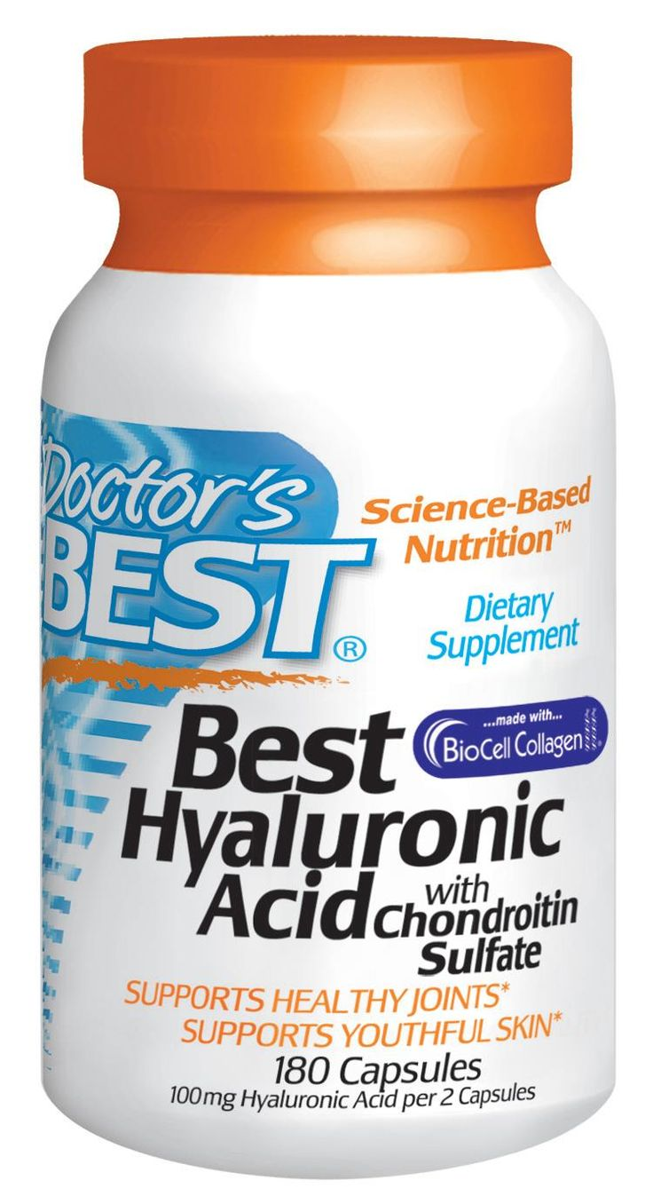 Doctor's Best, Best Hyaluronic Acid, With Chondroitin Sulfate, 180 Capsules