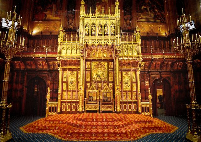 Royal Throne In The House Of Lord S Chamber Houses Of