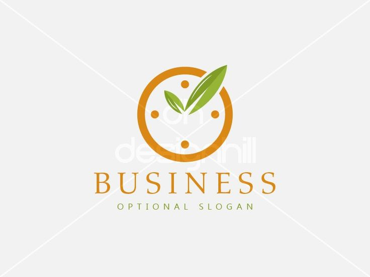 New logo design for sale on Design Hill - green, plant, circle, ecology, leaf, life, cycle, success, tick, clock, time, dial, watch, hand, hour, season, fast, quick, haste, organic, grow, solution, negative space, logo, design, template,