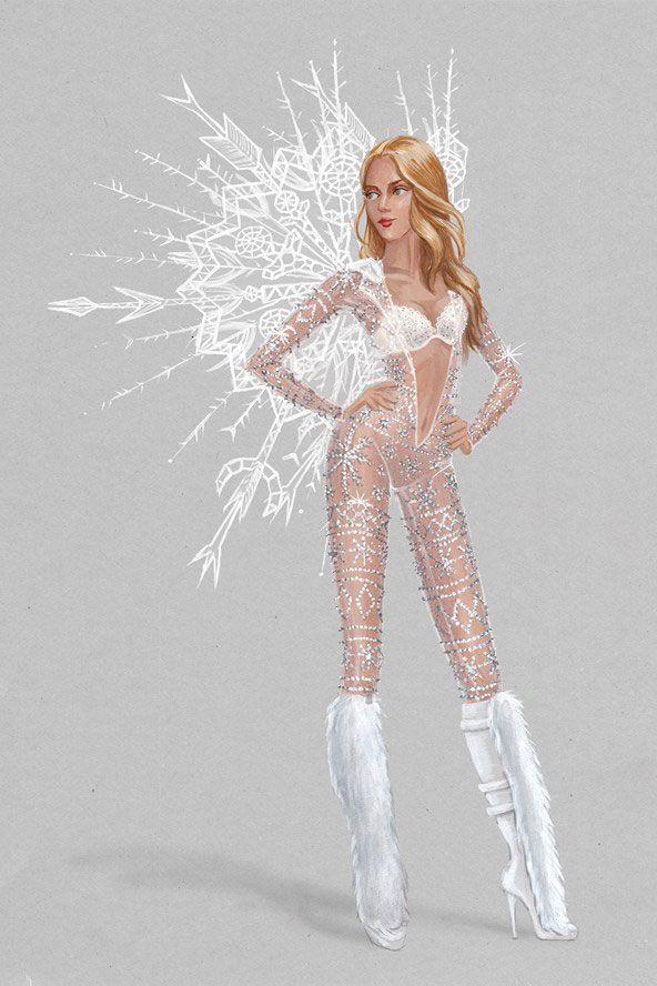 Victoria's Secret Fashion Show 2015 Sketches - Costume Designs for Victoria's Secret Angels