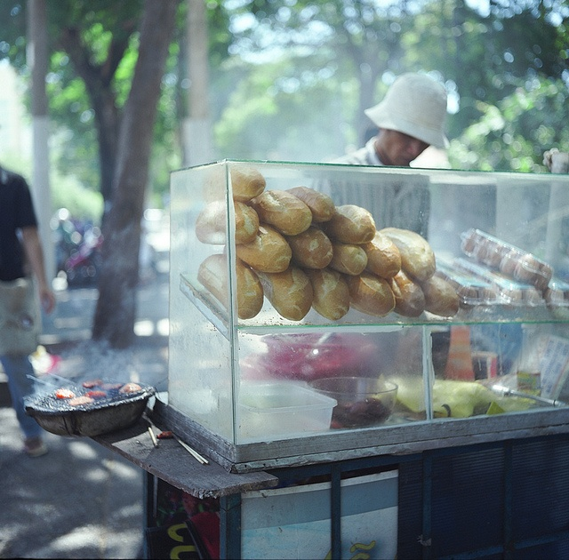 vietnamese traditional bread, taken with rolleiflex 3.5 MX-EVS