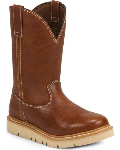 Justin Men's Jacknife Pull-On Work Boot - Round Toe | Sheplers