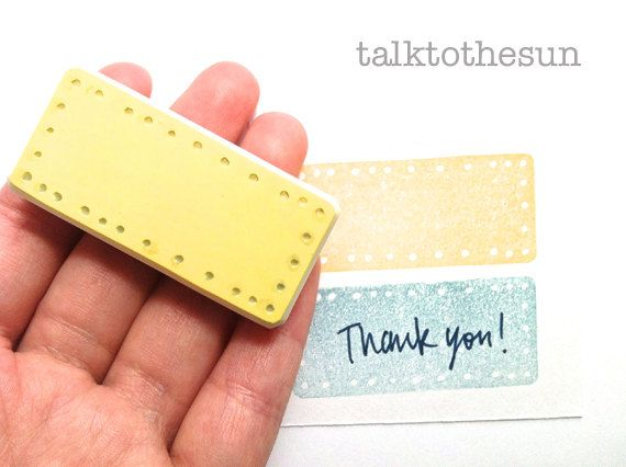 label rubber stamp. hand carved rubber stamp. handmade jornaling rubber stamp. READY TO SHIP. $9,00, via Etsy.