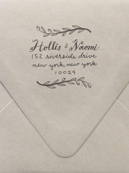 Laurel Return Address Custom Stamp | Sycamore Street Press