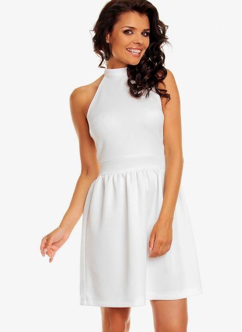 Sukienka biała bez pleców Maja  White Dress