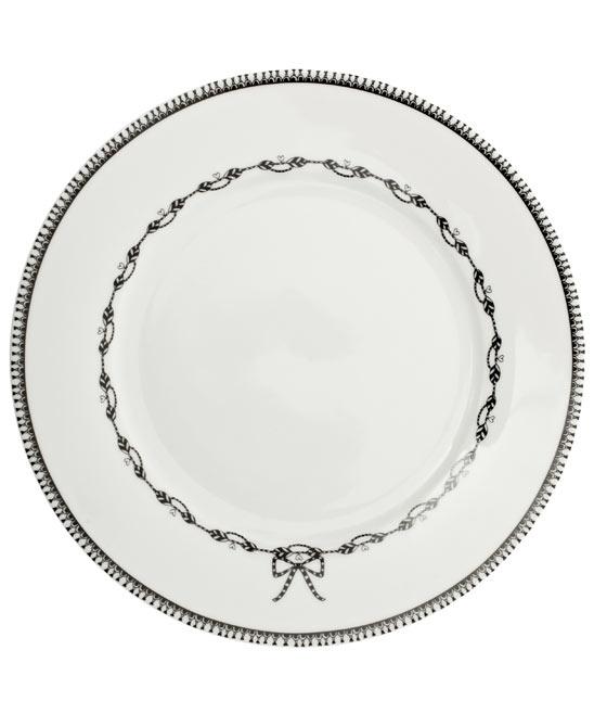 White Miss Blackbirdy Chain 22cm Plate, PiP Studio